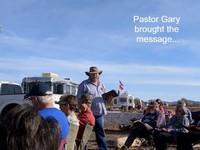 Gary preaching